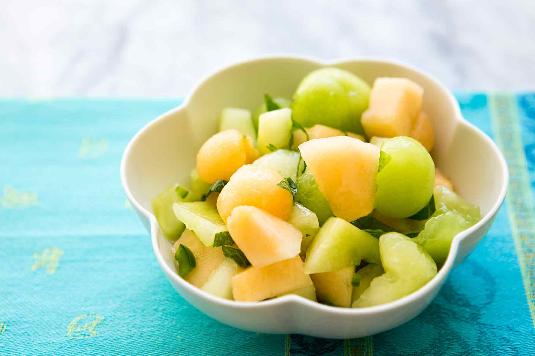 Melon Salad with Chili and Mint