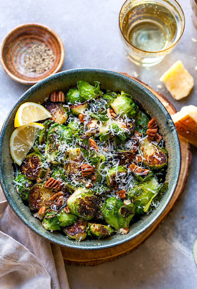 Sautéed Brussels Sprouts with Lemon & Parmesan