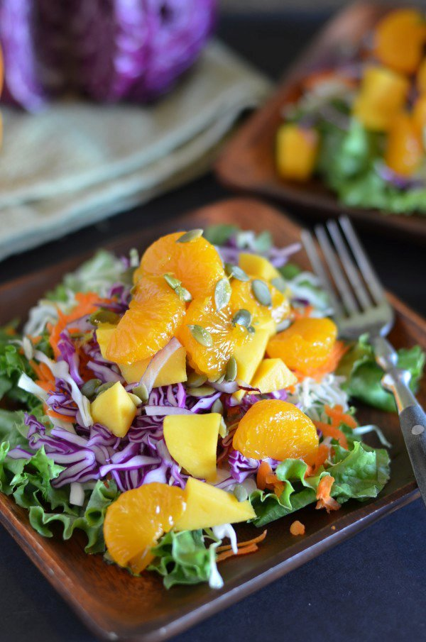 Whole Foods Tangerine Detox Salad with Oil-Free Dressing