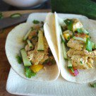 Chicken Curry Tacos with a Spicy Peach & Mint Chutney