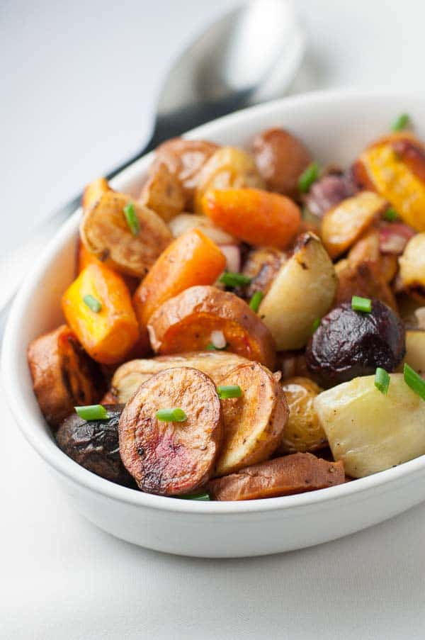 Apple Cider Roasted Root Vegetables