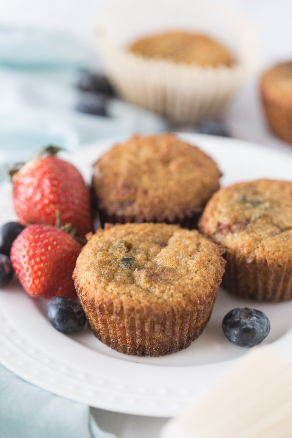 Low Carb Mixed Berry Muffins