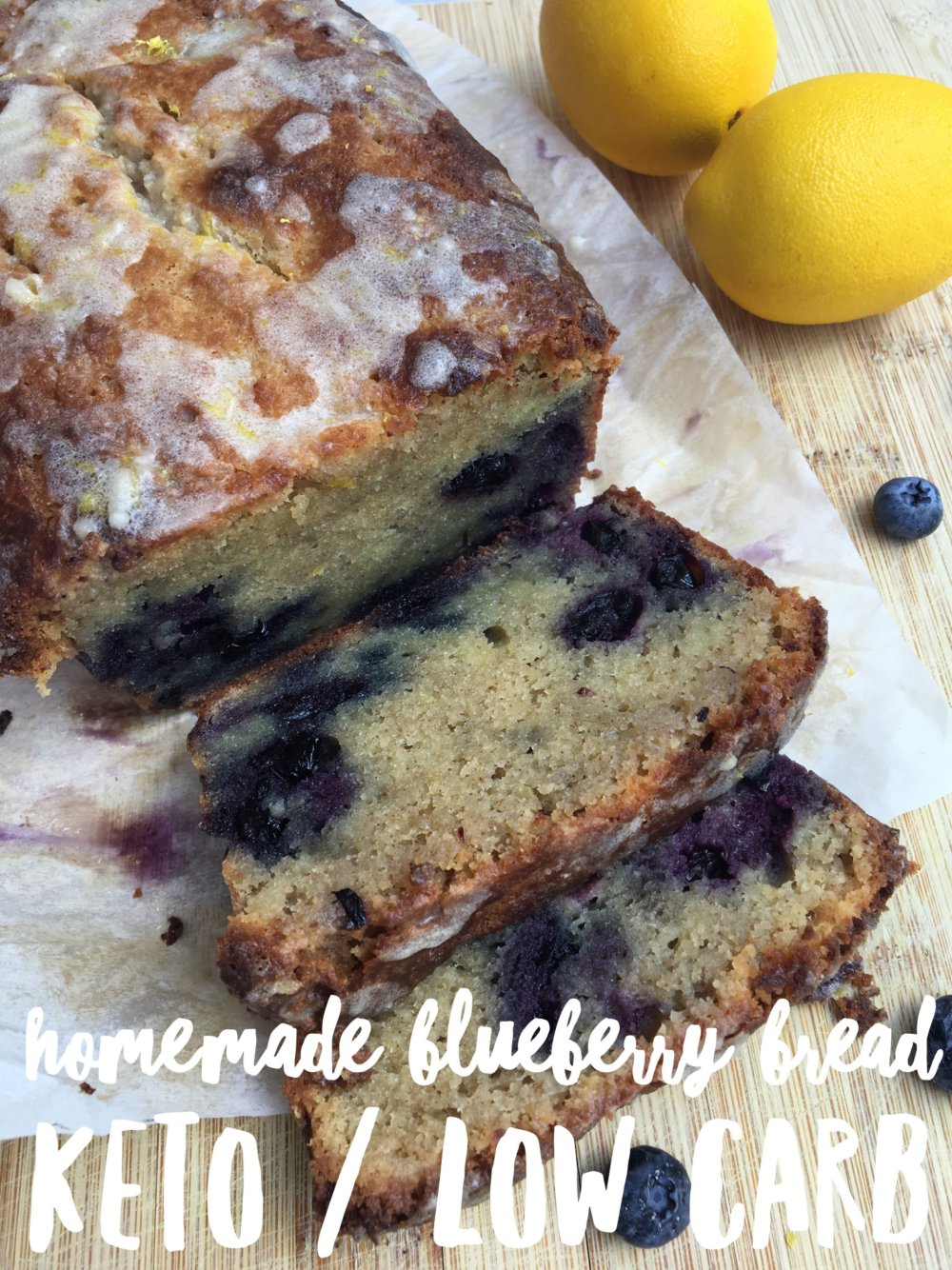 Homemade Blueberry Bread {keto / low carb}